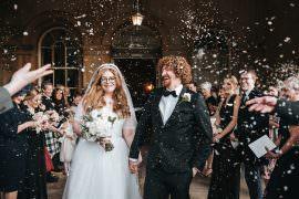 Prestwold Hall Wedding Pear & Bear Photography Confetti Throw